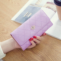 Luxury Brand Women Wallets Long Zipper Coin Purses Fashion Hasp Thread Wallet Design Clutch Female Money Bag Credit Card Holder - Creative Dreamscape