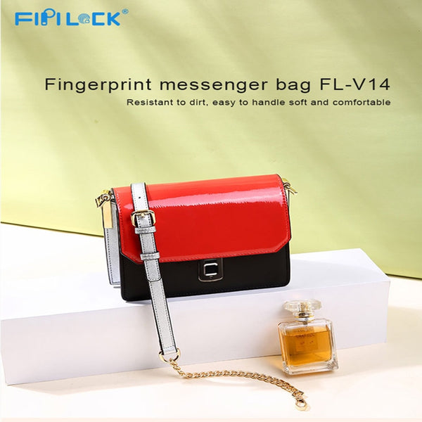 Fipilock FL-V14 Fingerprint Women Messenger Bag PU Leather Smart Keyless Crossbody Bag Female Anti-Theft Handbag Purses - Creative Dreamscape