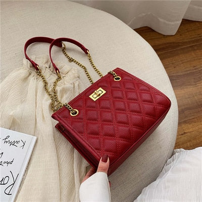 Green Large Shoulder Bag Women Travel Bags Leather Pu Quilted Bag Female Luxury Handbags Women Bags Designer Sac A Main Femme - Creative Dreamscape