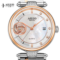 France Luxury Brand AILUO Women's Watches Diamond Wristwatches Japan MIYOTA Quartz Sapphire Waterproof Ladies Clock A7129 - Creative Dreamscape