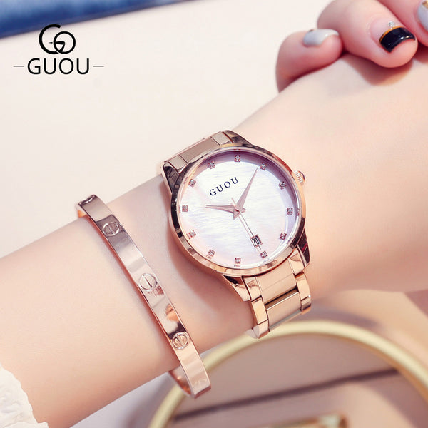 New Rose Gold Ladies Watch Women Top Brand Luxury Watch Fashion Simple Waterproof Women Watches Relogio Feminino zegarki damskie - Creative Dreamscape