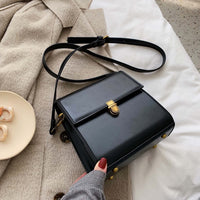 Simple Style Vintage Leather Crossbody Bags For Women 2019 Lock Luxury Shoulder Messenger Bag Female Travel Handbags and Purses - Creative Dreamscape