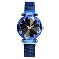 Luxury Starry Sky Stainless Steel Mesh Bracelet Watches For Women Crystal Analog Quartz Wristwatches Ladies Sports Dress Clock - Creative Dreamscape