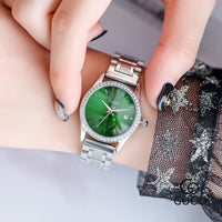 2019 New Ladies Stainless Steel Band Analog Quartz Round Wrist Watch Luxury Bracelet relogio feminino women watches montre clock - Creative Dreamscape