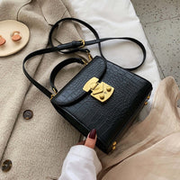 Mini Stone Pattern PU Leather Crossbody Bags For Women 2019 Lock Designer Shoulder Messenger Bag Female Travel Handbags - Creative Dreamscape