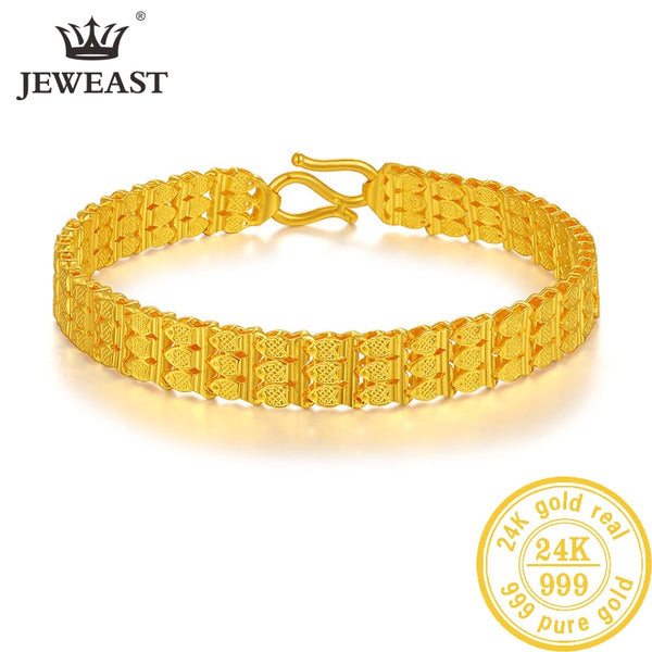 ZSFH 24K Pure Gold Bracelet Real 999 Solid Gold Bangle Upscale Beautiful Romantic Trendy Classic Jewelry Hot Sell New 2020 - Creative Dreamscape