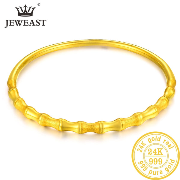 LKL 24K Pure Gold Bracelet Real 999 Solid Gold Bangle Upscale Beautiful Romantic Trendy Classic Jewelry Hot Sell New 2020 - Creative Dreamscape