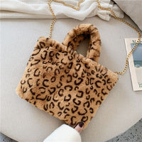 Animal Print Patterned Faux Fur Totes - Creative Dreamscape