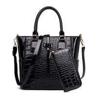 2 Set Patent Leather Ladies Hand Bags Purse luxury Handbags Women Bags Designer Alligator Tote Crossbody Bags Bolsas de Mujer - Creative Dreamscape