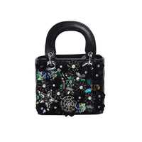 Women Crystal Totes Luxury Women Shoulder Messenger Bags Punk Handbag Bridal Floral Wedding Rhinestone Purse Evening Party Bags - Creative Dreamscape