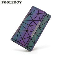 Wallet Women New Money Clip Female Trifold Slim laser Luminous Thin Women Wallets Long Clutch Carteira Feminina Luxury Purse - Creative Dreamscape