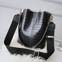 DIDA BEAR Crocodile Crossbody Bag For Women Shoulder Bag Brand Designer Women Bags Luxury PU Leather Bag Bucket Bag Handbag - Creative Dreamscape