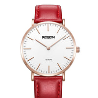 New Women's Watches Luxury Brand ROSDN Japan Quartz Movement Waterproof Clock Women Genuine Leather Strap Couples Watches R3603W - Creative Dreamscape