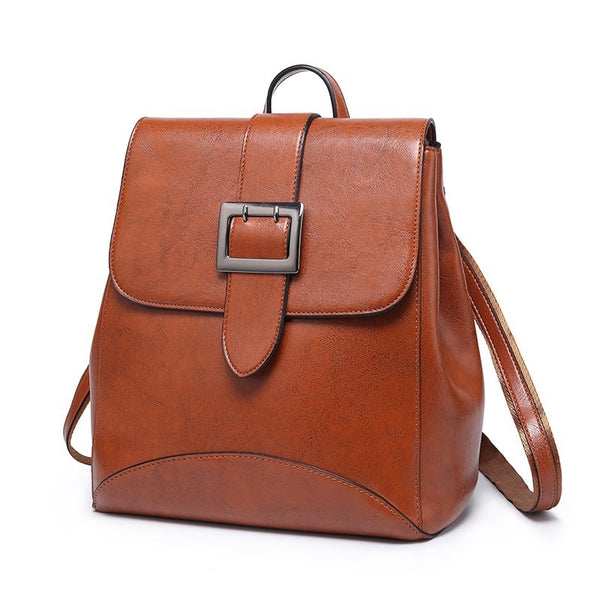 2019 Woman's PU Backpack Lady Fashion Back 2in1 Shoulder Bag For Women Girls Shopping School Bucket Bags Anti-Theft Leather - Creative Dreamscape