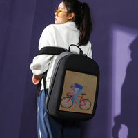 2019 New DIY Wifi Smart LED Backpack With Led Display Screen Backpack Waterproof For Walking Outdoor Advertising Backpack Unisex - Creative Dreamscape