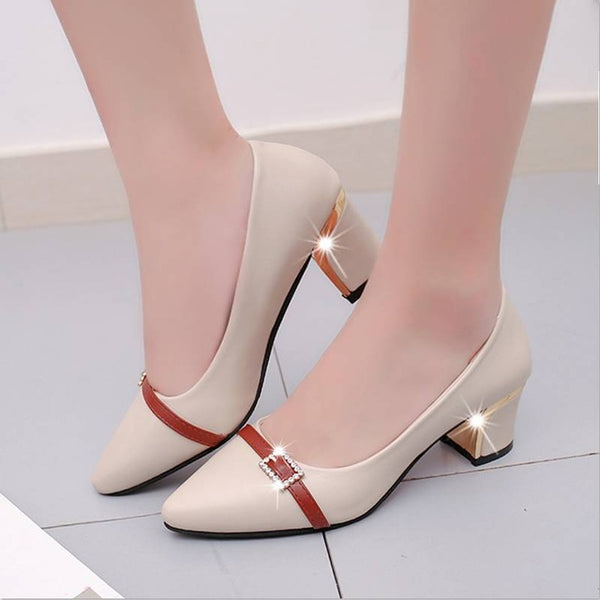 summer Office shoes Women Pumps high heels Party Simple Pointed Shallow high heels Woman Office shoes women 236 - Creative Dreamscape