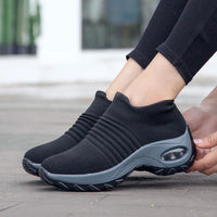 2019 women sneakers fashion casual shoes platform sneakers for women black breathable mesh sock sneakers Tenis Feminino - Creative Dreamscape