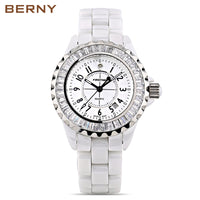 BERNY White Ceramic women watches waterproof luxury Japan Quartz relogio feminino Best Gift For Christmas New Year - Creative Dreamscape