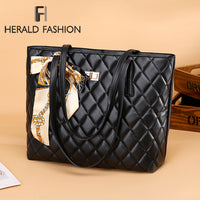 Herald Fashion Women Large Shoulder Bag Travel Bags Leather Pu Quilted Bag Female Luxury Handbags Female Bags Design For Girls - Creative Dreamscape
