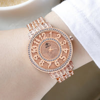 Women Quartz Watch Fashion Bling Casual Ladies Watch Female Quartz Gold Watch Crystal Diamond For Women Clock - Creative Dreamscape