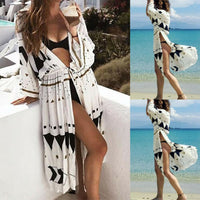 Hot 2019 Women Sexy Chiffon Bikini Cover Up Beach Loose Shawl Kimono Cardigan To Swimwear Dress Scarf Pareo Sarong Wrap Ladies - Creative Dreamscape