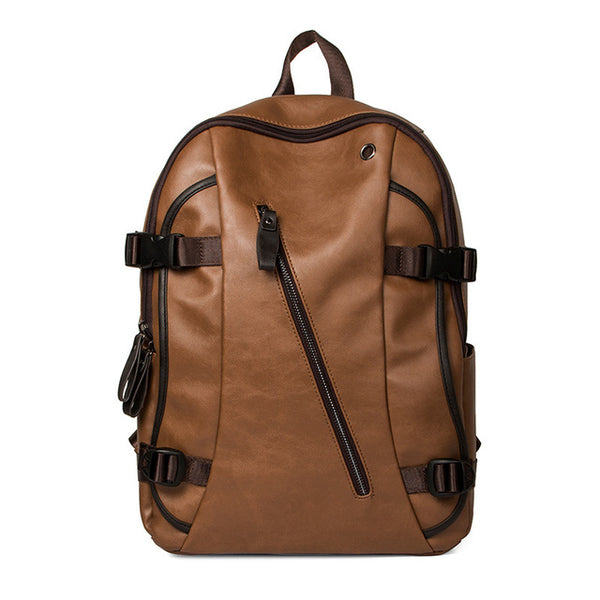 Men Oil Wax Leather Anti Theft Backpack Men's Casual Backpack & Travel Bags Western College Bookbag Laptop Computer Bag mochilas - Creative Dreamscape
