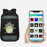APP Control Wifi LED Backpack with LED Display Screen Smart for Walking Outdoor Advertising Backpack Led Dynamic Display - Creative Dreamscape