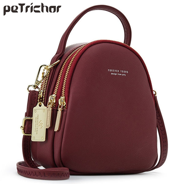 Fashion Leather Mini Backpack Purse for Women Ladies Tote Multi-Function Luxury Shoulder Bag Messgner Bags Mochila Feminina NEW - Creative Dreamscape