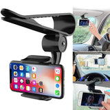 Sun Visor Car Cell Phone Holder 360 Rotating Car Mount Bracket for Universal Smartphones LHB99 - Creative Dreamscape