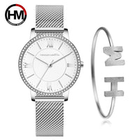 Sophisticated Elegant Diamond High Quality Ultra-thin Women Stainless Steel Mesh Waterproof Ladies Women Watch Dropshipping - Creative Dreamscape