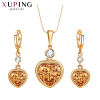 Xuping Fashion Heart Shaped Set for Women Charms Style High Quality Imitation Jewelry Sets for Party Gifts S84-64589 - Creative Dreamscape