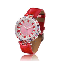 Princess Butterfly Fashion Women Watches Colorful Wrist Watch Crystal Waterproof Simple Luxury Reloj Mujer Leather Strap Quartz - Creative Dreamscape