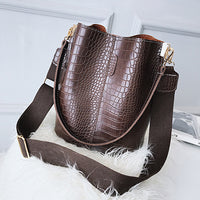 Vintage leather Stone Pattern Crossbody Bags For Women 2020 New Shoulder Bag Fashion Handbags and Purses Zipper Bucket Bags - Creative Dreamscape