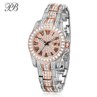 Princess Butterfly Crystal Women Watches Luxury Rose Gold Gypsophila Dial Relojes Mujer Waterproof Ladies Watch Quartz - Creative Dreamscape