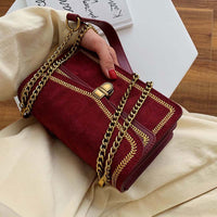 Scrub Leather Crossbody Bags For Women 2020 Chain Shoulder Messenger Bag Lady Travel Luxury Handbags and Purses - Creative Dreamscape