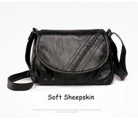Retro Bag Women Bag Soft Sheepskin Shoulder Bag 14 Patterns Mom Large Capacity Bags Multi Pockets PU Bag Adjustable Women's Bag - Creative Dreamscape