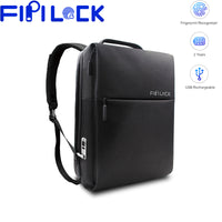 Fipilock FL-V4 Backpack USB Fingerprint Lock Motorcycle Anti-Theft Bag Smart Keyless Locks Fingerprint Backpack Portable Charger - Creative Dreamscape
