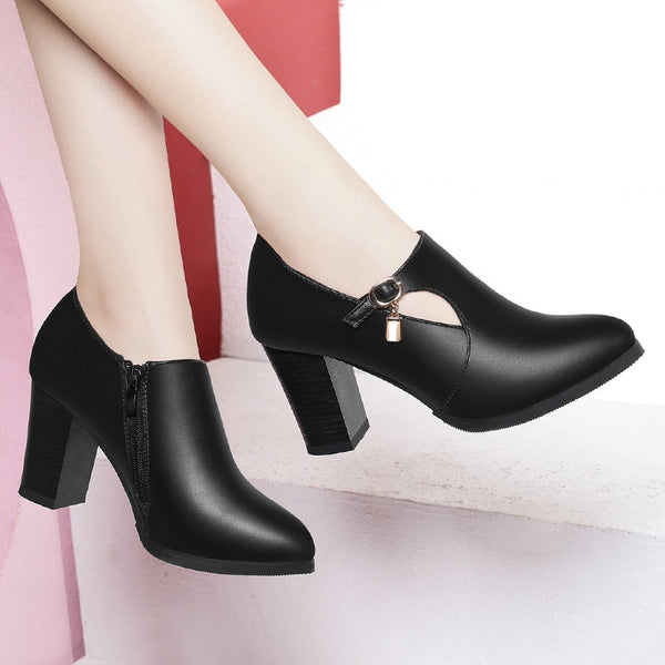 Leather Pointed Toe High Heel Shoes - Creative Dreamscape
