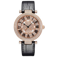 Princess Butterfly Women Watch Four-leaf Clover Leather Strap Watches Crystal Rose Gold Rotatable Luxury Quartz Waterproof Reloj - Creative Dreamscape