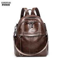Anti theft backpack women leather travel backpacks ladies bagpack purse vintage back pack bag school bags for teenage girls - Creative Dreamscape