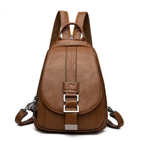 atinfor Brand Anti Theft Women Leather Backpacks Purse Vintage Female Shoulder Bag Travel Small Backpack Lady - Creative Dreamscape