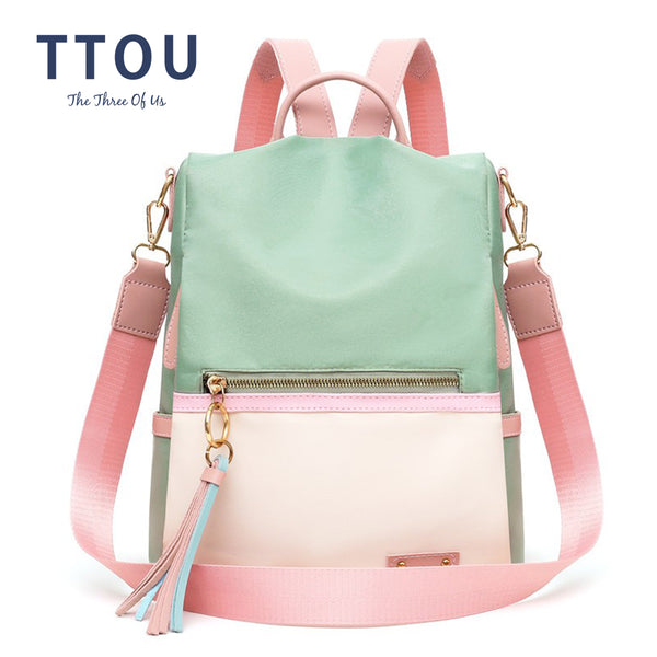 fashion lady bag anti-theft women backpack hight quality candy color backpacks female large capacity women's shoulder bags - Creative Dreamscape