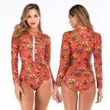 Sexy Long Sleeve One Piece Swimsuit - Creative Dreamscape