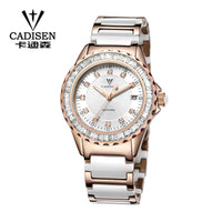 2019 New Women's Watches Luxury Brand Gold Ceramic Strap Bracelet Quartz Watch Sapphire Crystal Waterproof Clock Relojes Mujer - Creative Dreamscape