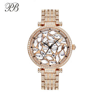 Princess Butterfly Watch Women Sparkling Diamond Luxury Brand Rose Gold Ladies Crystal Watch Waterproof Quartz Relojes Mujer - Creative Dreamscape
