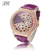 Princess Butterfly Women Watches Crystal Ladies Cheetah Watch OEM Quicksand Leather Waterproof Luxury Quartz Reloj Mujer - Creative Dreamscape