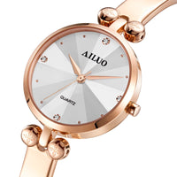 New Luxury Brand France AILUO Women's Watches Quartz Movement reloj mujer Sapphire Waterproof Diamond Bracelet Clock A7611 - Creative Dreamscape
