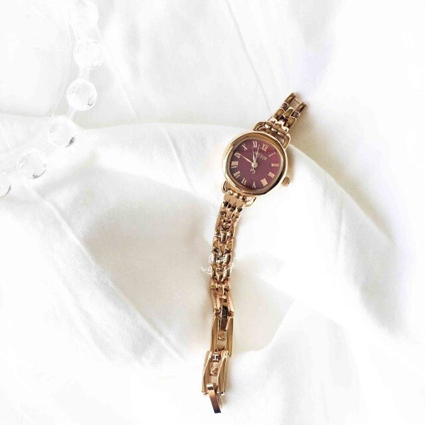 Korean simple chic fashion round girl small dial personality fashion chain quartz watch - Creative Dreamscape
