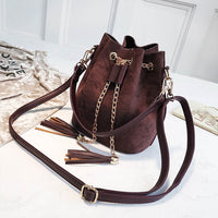 Mini Crossbody Suede Bucket Bag - Creative Dreamscape