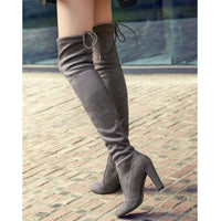Faux Suede Women Over The Knee Boots Lace Up Sexy High Heels Shoes Woman Female High Boots Botas 34-43 Women High Boot - Creative Dreamscape